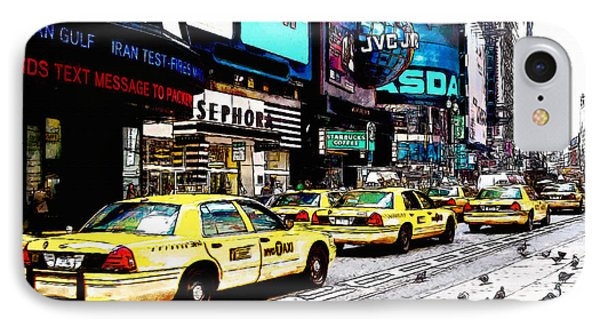 Times Square IPhone Case by Kai Saarto