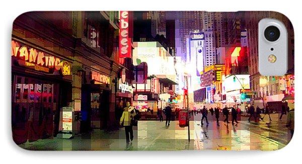Times Square New York - Nanking Restaurant IPhone Case by Miriam Danar
