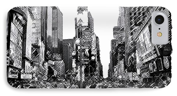 Times Square   New York City IPhone Case by Iconic Images Art Gallery David Pucciarelli