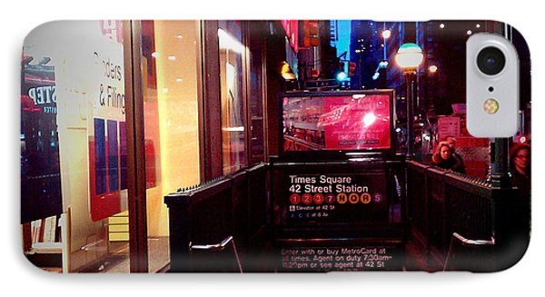 IPhone Case featuring the photograph Times Square Station by James Aiken