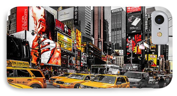 Times Square Taxis IPhone 7 Case by Az Jackson