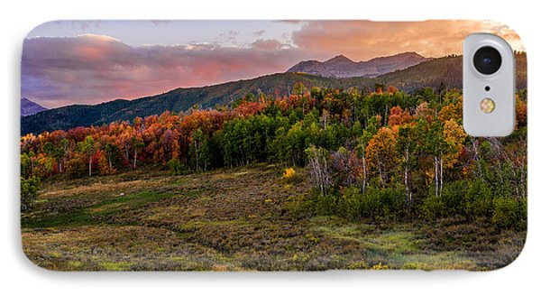Mountain Sunset iPhone 7 Case - Timp Fall Glow by Chad Dutson