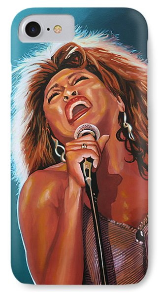 Rhythm And Blues iPhone 7 Case - Tina Turner 3 by Paul Meijering