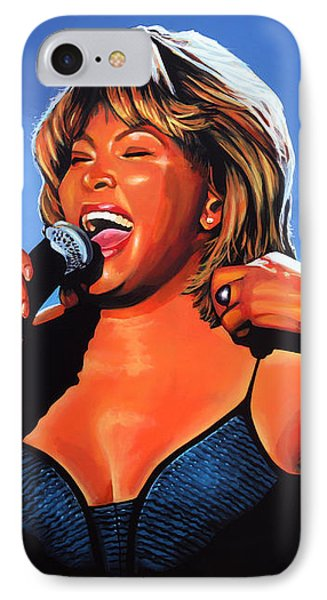 Rhythm And Blues iPhone 7 Case - Tina Turner Queen Of Rock by Paul Meijering
