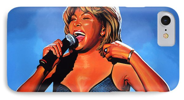 Tina Turner Queen Of Rock IPhone 7 Case by Paul Meijering