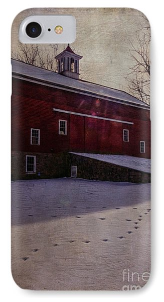 IPhone Case featuring the photograph Tinicum Barn In Winter by Debra Fedchin