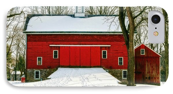Tinicum Barn In Winter II IPhone Case by Debra Fedchin