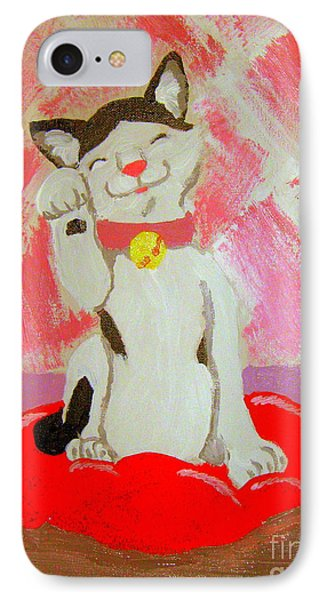 IPhone Case featuring the painting Tinkadinkadoo by Wendy Coulson