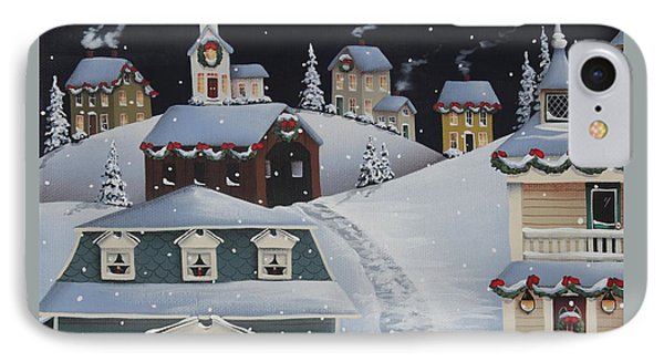 Tinsel Town Christmas IPhone Case by Catherine Holman