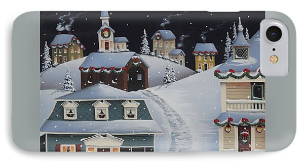 Tinsel Town Christmas Phone Case by Catherine Holman