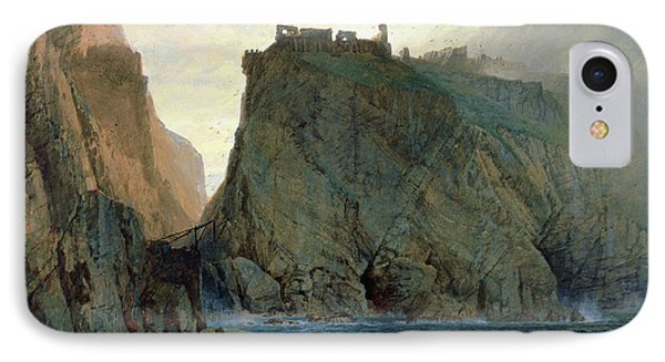 Tintagel On The Cornish Coast Phone Case by W T Richards