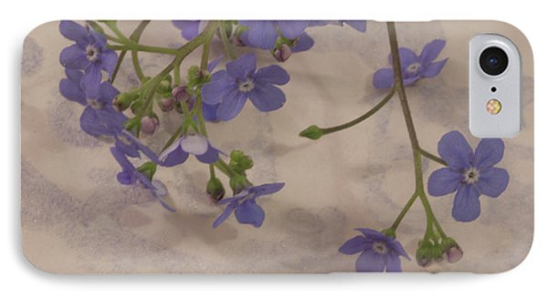 IPhone Case featuring the photograph Tiny Blue by Sandra Foster