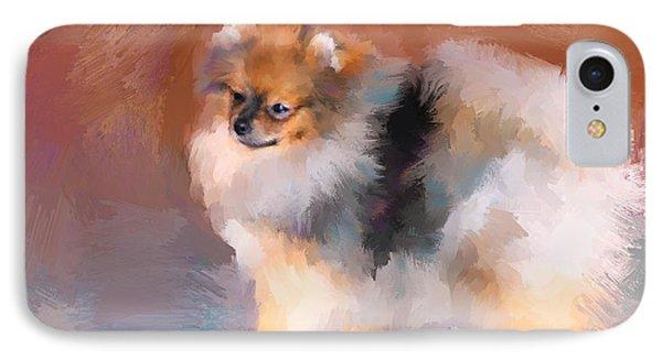 Tiny Pomeranian IPhone Case by Jai Johnson