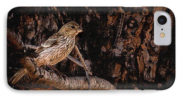 Tiny Sparrow Huge Tree Phone Case by Bob and Nadine Johnston