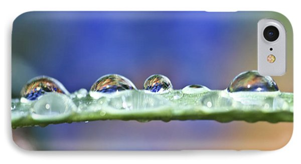 Tiny Waterworld And A Leaf Phone Case by Heiko Koehrer-Wagner