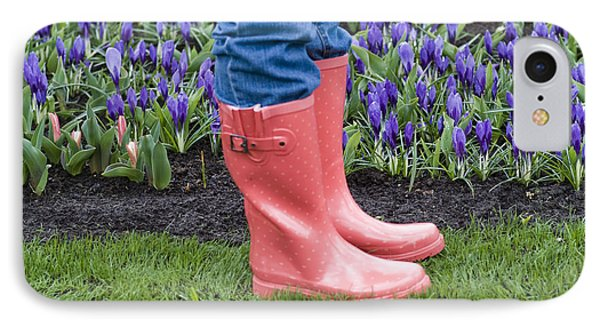 Tip Toe Through The Tulips IPhone Case by Juli Scalzi