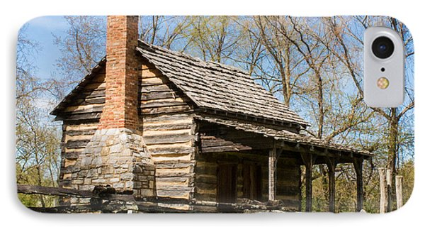 Tipton Hayes Log Cabin 10 IPhone Case by Douglas Barnett