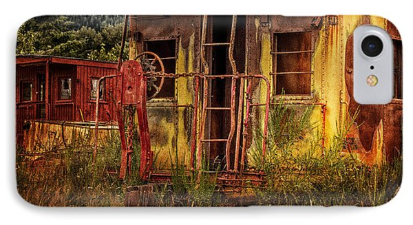 Tired Caboose IPhone Case by Mary Jo Allen
