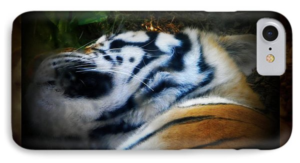 Tired Tiger IPhone Case