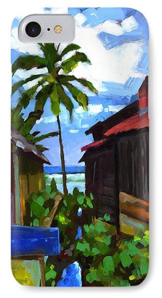 Tiririca Beach Shacks IPhone Case by Douglas Simonson