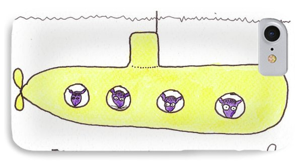 Tis Yellow Submarine Phone Case by Tis Art