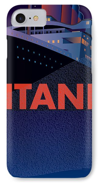 Titanic 100 Years Commemorative Phone Case by Leslie Alfred McGrath