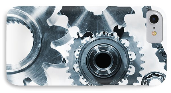 Titanium Aerospace Parts In Blue IPhone Case