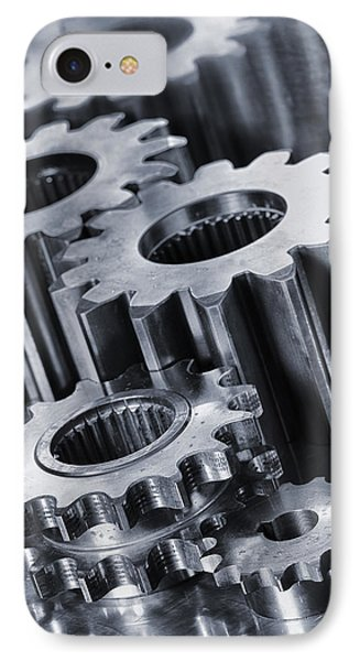Titanium Gears And Cogs IPhone Case by Christian Lagereek