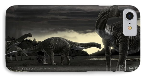 Titanosaurs In The First Storm Phone Case by Rodolfo Nogueira
