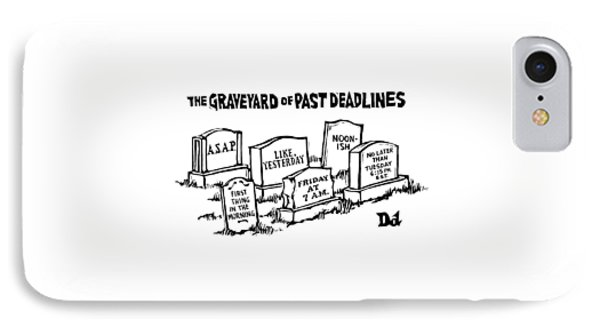 Title: Graveyard Of Past Deadlines.  A Graveyard IPhone Case
