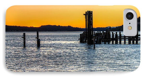 Titlow Beach Park Sunset Tacoma Wa IPhone Case by Rob Green