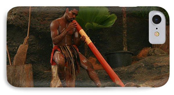 Tjapukai Playing The Didgeridoo Phone Case by Cecelia Helwig