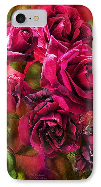 To Be Loved - Red Rose IPhone Case by Carol Cavalaris
