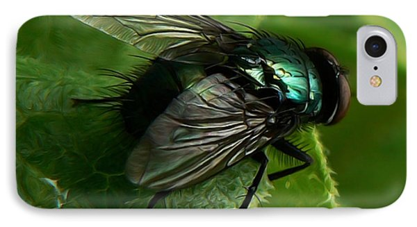 To Be The Fly On The Salad Greens IPhone Case by Barbara St Jean