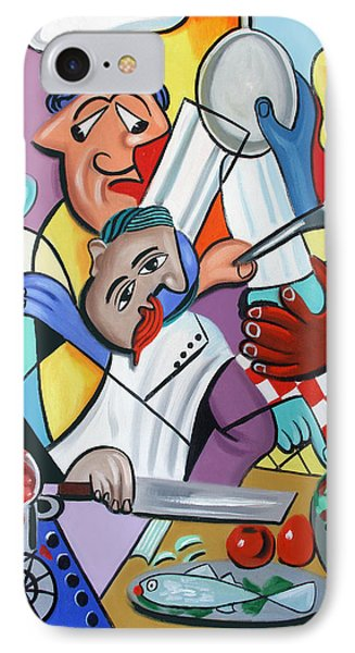 To Many Cooks In The Kitchen IPhone Case by Anthony Falbo