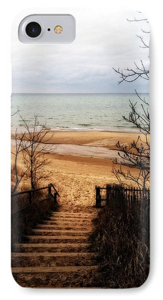 To The Beach IPhone Case by Michelle Calkins