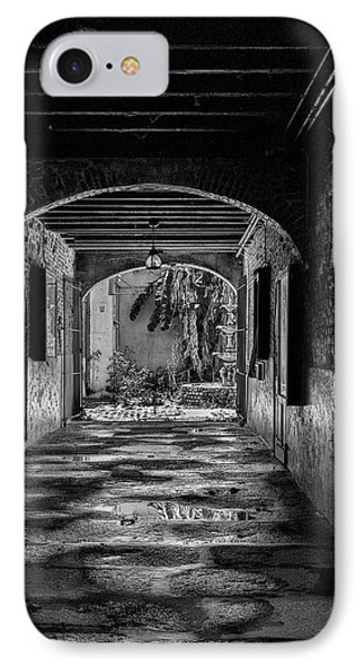 To The Courtyard - Bw Phone Case by Christopher Holmes
