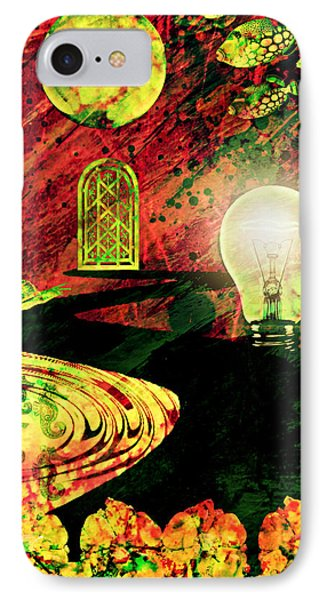 IPhone Case featuring the mixed media To The Light by Ally  White