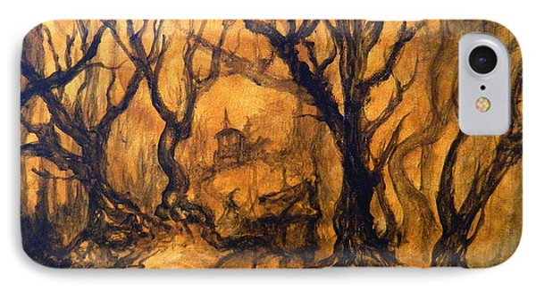 IPhone Case featuring the painting Toad Hollow by Christophe Ennis