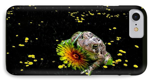 Toad In A Lions Den IPhone Case by Mike Breau