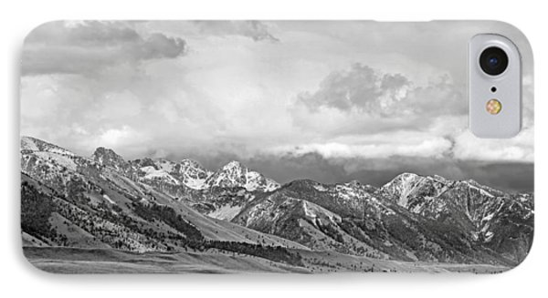 Tobacco Root Mountains Montana Black And White Phone Case by Jennie Marie Schell