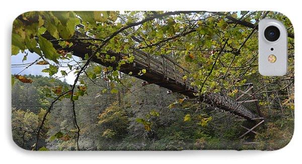 Toccoa River Swinging Bridge IPhone Case