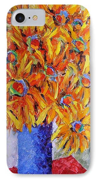 IPhone Case featuring the painting Today I Think In Yellow by Nina Mitkova