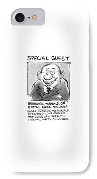 Today's Special Guest Brundage Mornald IPhone Case by Lee Lorenz