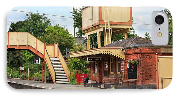 Toddington Railway Station In Gloucestershire IPhone Case by Louise Heusinkveld