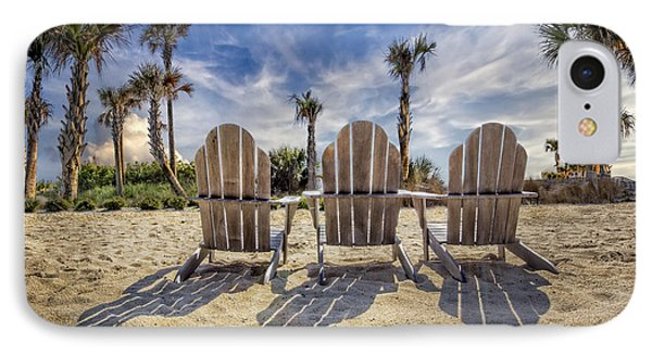 Toes In The Sand IPhone Case by Debra and Dave Vanderlaan