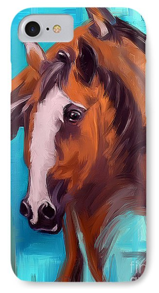 IPhone Case featuring the painting Together 1 by Go Van Kampen