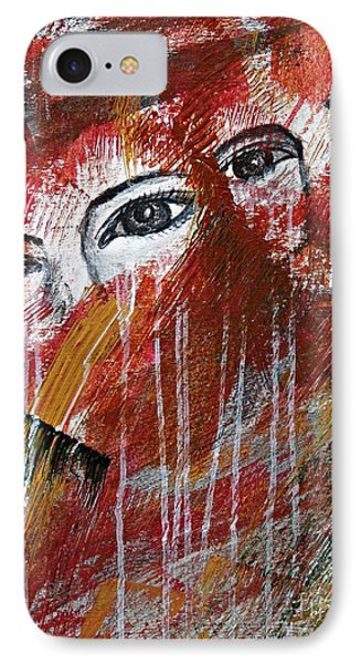 IPhone Case featuring the painting Together- Abstract Art by Ismeta Gruenwald