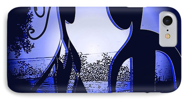 IPhone Case featuring the digital art Together Forever 2 by Iris Gelbart