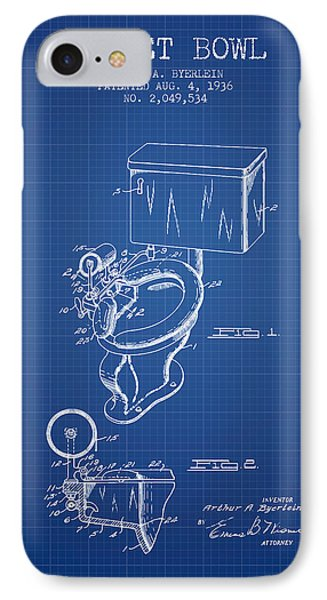 Toilet Bowl Patent From 1936 - Blueprint IPhone Case